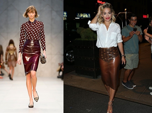 Po lewej:Pokaz Burberry Po prawej: Rita Ora