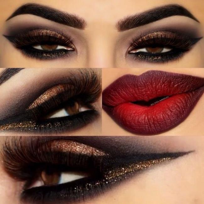 24 Top Propozycje Na Wieczór Seksowny Makijaż Dla Ciemnookich Kobiet