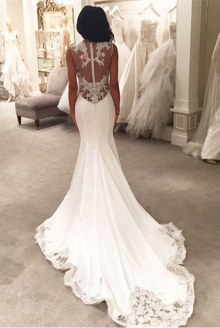 Najpi kniejsze pe ne klasy suknie lubne modowe inspiracje for Wedding dress with buttons all the way down