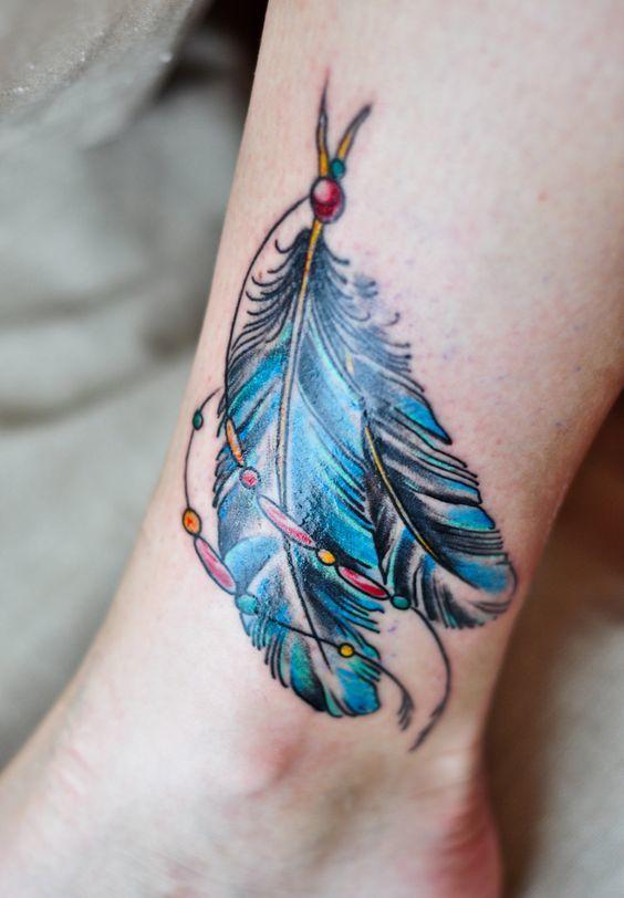 Tatuaż Z Piórkiem Symbol Nieskończoności Dream Catcher I