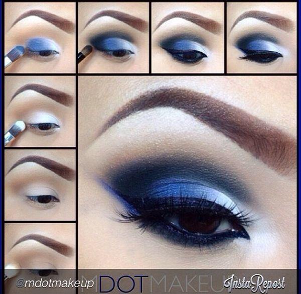 Niebieski Makijaż Oczu Odważysz Się Propozycje Na Makijaż Sylwestrowy