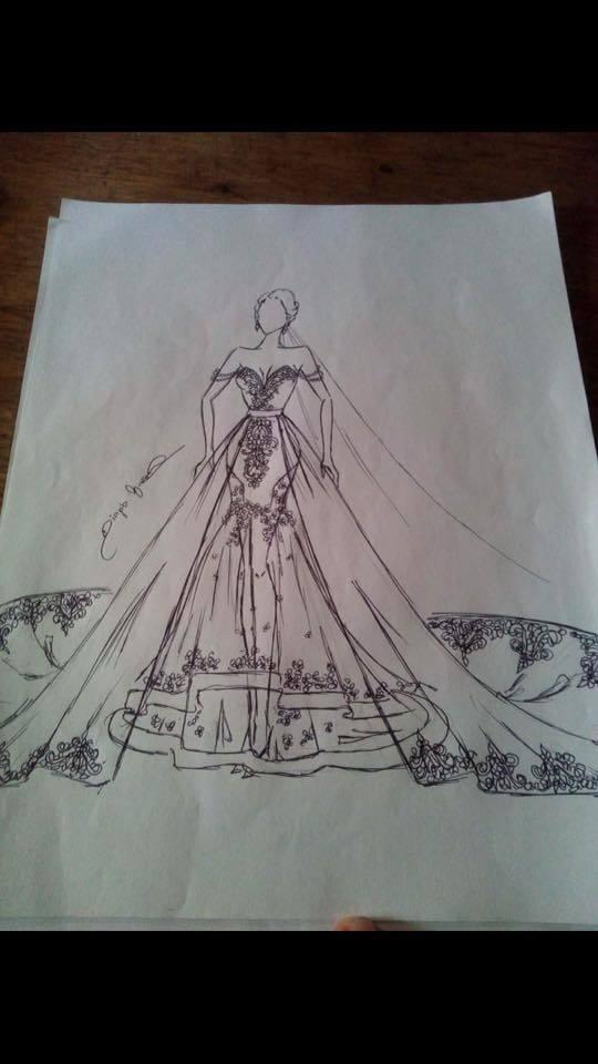 Tak miała wyglądać suknia marzeń Mhayo Arguelles