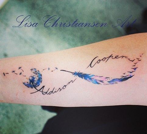 Modne Tatuaże Symbol Nieskończoności Z Imieniem Dziecka Mamy