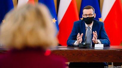 Mateusz Morawiecki na spotkaniu z przedstawicielami Pfizer Polska
