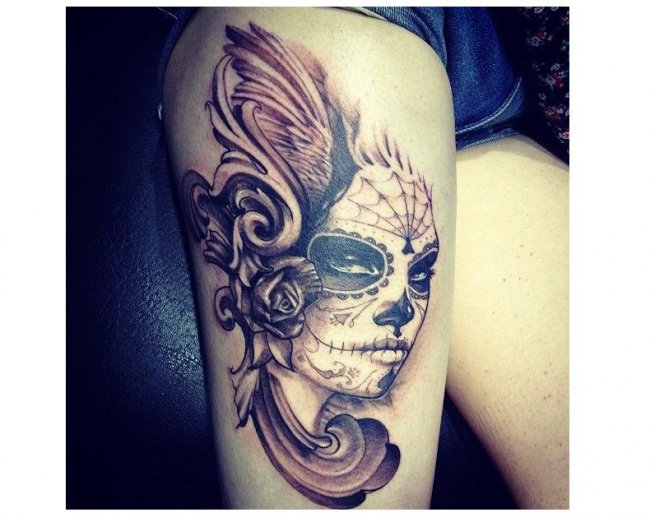 Tatuaże Z Czaszką Super Wzory Dla Dziewczyn