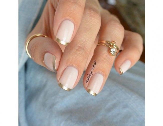 Paznokcie Nude Ze Złotem Idealny Pomysł Na Stylowy Manicure