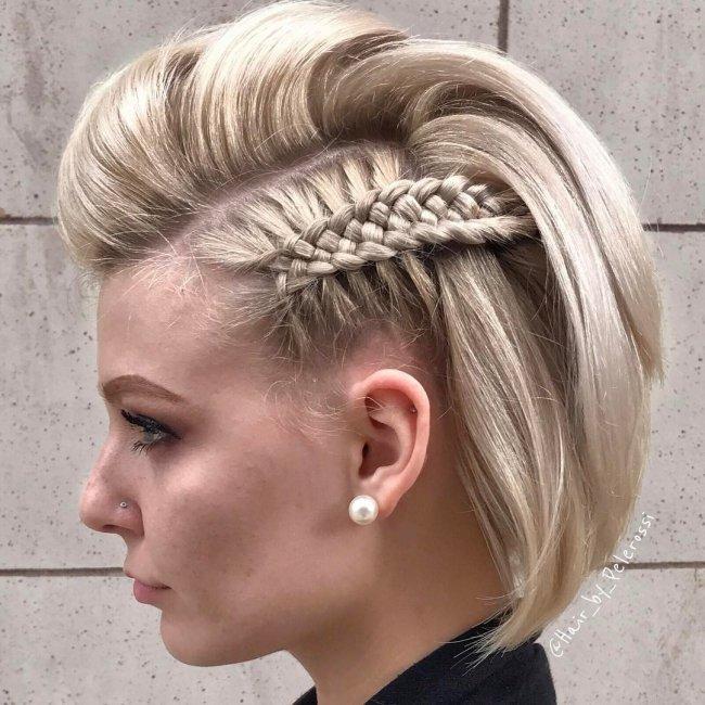 Fryzury Z Warkoczem Krótkie I średnie Włosy Duża Galeria