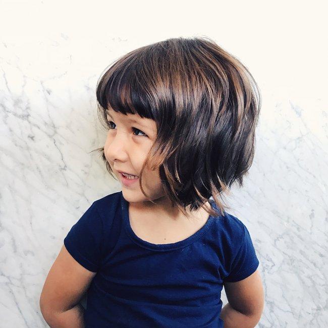 Fryzury Dla Dziewczynek Z Grzywką Cieniowane Bob